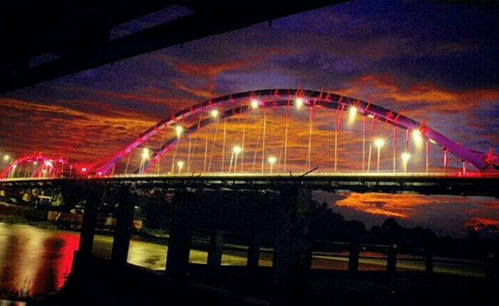 jembatan waterfront city bangkinang kampar - Publiknews