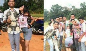siswa dan siswi sma negeri 1 kunto darussalam merayakan kelulusan corat coret baju copy 800x449 - Publiknews