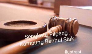 Banding Sengketa Pilpeng Benhul 2019, Pemkab Siak Kalah