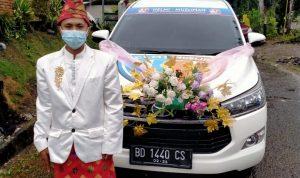 Bukan Mobnas Helmi Hasan Saja, Mobil Relawan HM Juga Dipakai Nikah