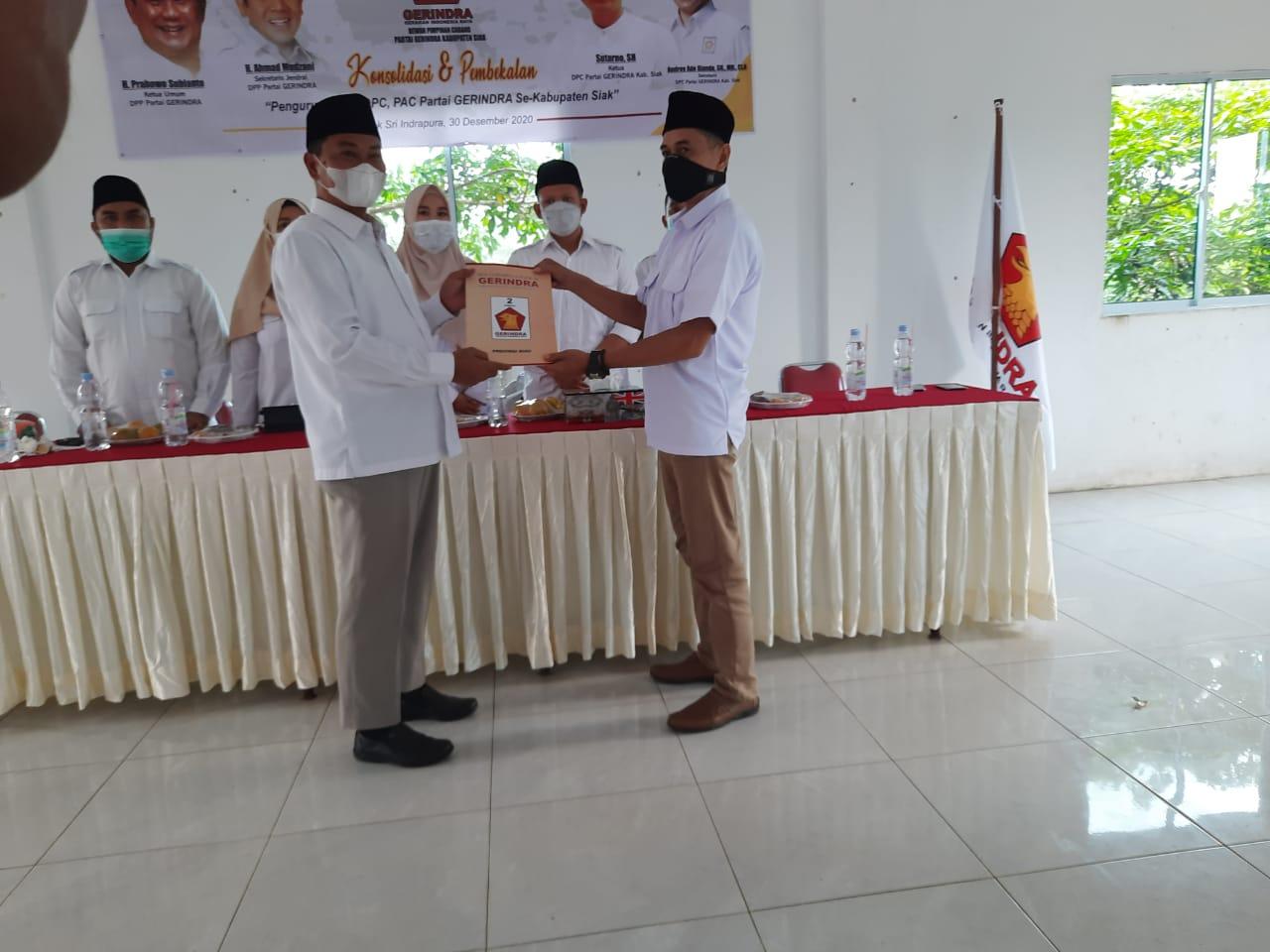 DPC Gerindra Kabupaten Siak Gelar Konsolidasi dan Pembekalan Kader