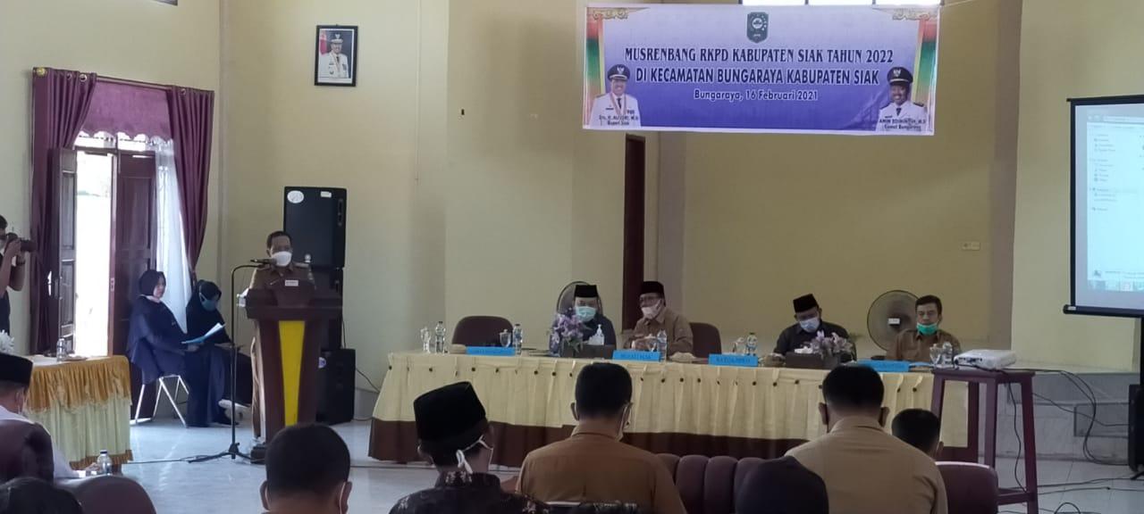 Buka Musrenbang RKPD di Bungaraya, Sekda Arfan: Semoga Tidak Saling Menyalahkan