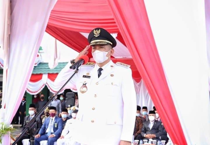 Bupati Meranti H.M Adil Jadi Inspektur Upacara HUT RI Ke-76 Tahun 2021